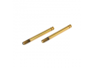 Rear Shock Shaft Set; TiNi (2): Mini 8 - LOSB1939