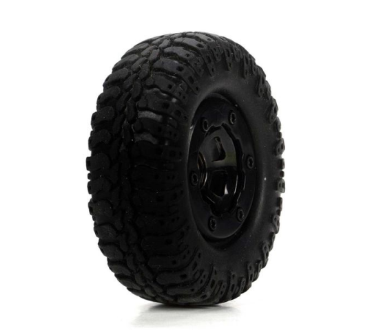 Scale AT Tire & Wheel, Mounted (4) :Mc4x4 - LOSB1578