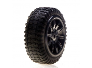Tires, Mounted, Silver: Micro Rally - LOSB1584