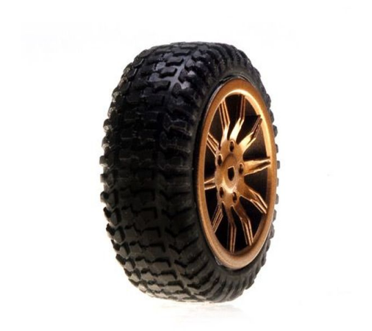 Tires, Mounted, Gold: Micro Rally - LOSB1586