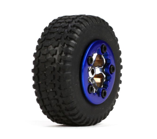 Tires, Mounted, Blue (4): Micro SCT - LOSB1592