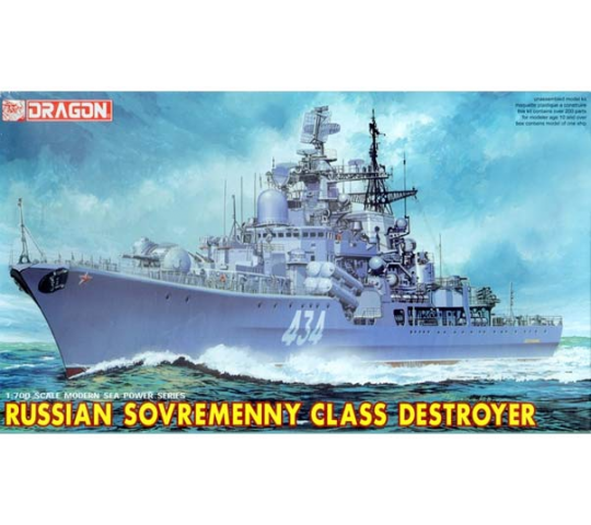 Destroyer Russe Sovremenny Dragon 1/700 - T2M-D7048