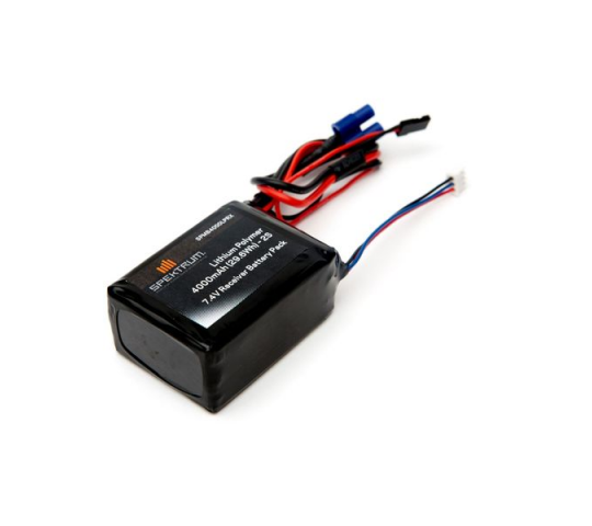 4000mAh 2S 7.4V LiPo Receiver Battery - SPMB4000LPRX