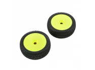 Premount Wheel & Tire, Yellow (2): 5IVE-B - TLR45004