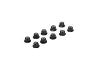 M3 Flanged Aluminum Lock Nuts, Black (10) - TLR336005