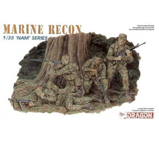 Groupe de reconn. Marines Dragon 1/35 - T2M-D3313