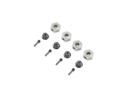 Wheel Hex, Pins & Serrated Lock Nut: ASN (4) - VTR232077