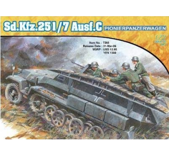 Sd.Kfz.251/7 Ausf.C Dragon 1/72 - T2M-D7265
