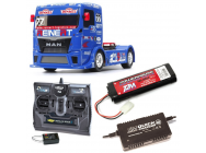 Pack CAMION TAMIYA MAN TGS Reinert Racing TT01E COMPLET RADIO / CHARGEUR / ACCU - BDL-58642RTR