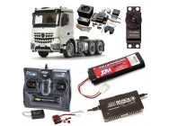 PACK CAMION TAMIYA MB AROCS 3363 6X4 COMPLET RADIO / CHARGEUR / ACCU / SONS ET LUMIERE - BDL-56352SL