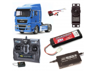 PACK CAMION TAMIYA MAN TGX 18.540 4x2 XLX COMPLET RADIO / CHARGEUR / ACCU - BDL-56350