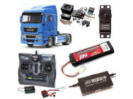 PACK CAMION TAMIYA MAN TGX 18.540 4X2 XLX COMPLET RADIO / CHARGEUR / ACCU / SONS ET LUMIERE - BDL-56350SL