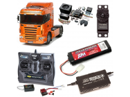 PACK CAMION TAMIYA MAN TGX 18.540 4X2 XLX COMPLET / RADIO / CHARGEUR / ACCU / SONS ET LUMIERE - BDL-56338SL