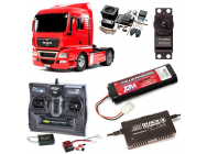 PACK CAMION TAMIYA MAN TGX 18.540 COMPLET / RADIO / CHARGEUR / ACCU / SONS ET LUMIERE - BDL-56332SL