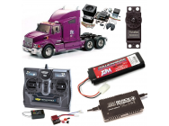 PACK CAMION TAMIYA FORD AEROMAX COMPLET / RADIO / CHARGEUR / ACCU / SONS ET LUMIERE - BDL-56309SL