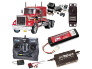 PACK CAMION TAMIYA KING HAULER COMPLET / RADIO / CHARGEUR / ACCU / SONS ET LUMIERE - BDL-56301SL