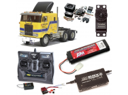 PACK CAMION TAMIYA GLOBE LINER COMPLET / RADIO / CHARGEUR / ACCU / SONS ET LUMIERE - BDL-56304SL
