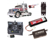 PACK CAMION TAMIYA KNIGHT HAULER COMPLET / RADIO / CHARGEUR / ACCU - BDL-56314