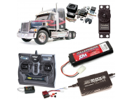 PACK CAMION TAMIYA KNIGHT HAULER COMPLET / RADIO / CHARGEUR / ACCU / SONS ET LUMIERE - BDL-56314SL