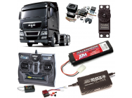 PACK CAMION TAMIYA MAN TGX 26.540 6X4 XLX COMPLET / RADIO / CHARGEUR / ACCU / SONS ET LUMIERE - BDL-56325SL