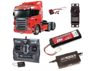 PACK CAMION TAMIYA SCANIA R620 6X4 COMPLET / RADIO / CHARGEUR / ACCU - BDL-56323