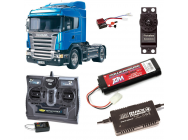 PACK CAMION TAMIYA SCANIA R470 HIGHLINE COMPLET / RADIO / CHARGEUR / ACCU - BDL-56318