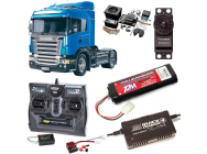 PACK CAMION TAMIYA SCANIA R470 HIGHLINE COMPLET / RADIO / CHARGEUR / ACCU / SONS ET LUMIERE - BDL-56318SL