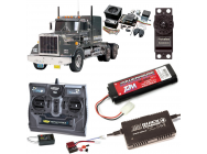 PACK CAMION TAMIYA KING HAULER BLACK EDITION COMPLET / RADIO / CHARGEUR / ACCU / SONS ET LUMIERE - BDL-56336SL