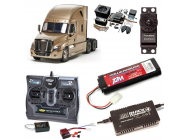 PACK CAMION TAMIYA CASCADIA EVOLUTION COMPLET / RADIO / CHARGEUR / ACCU / SONS ET LUMIERE - BDL-56340SL