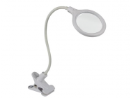 LAMPE-LOUPE LED AVEC PINCE - 5 DIOPTRES - 6 W - 30 LEDs - BLANC