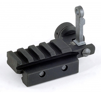 Flip-Up Rear Sight with Small Rail - .PS02222