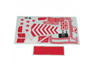 FMS 70MM YAK130 DECAL SHEET - FMSPS113RED
