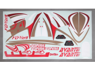 FMS AVANTI DECAL SHEET  - FMSPX113RED