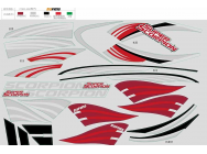 ROC HOBBY SUPER SCORPION EDF JET STICKERS - ROC-FZ008