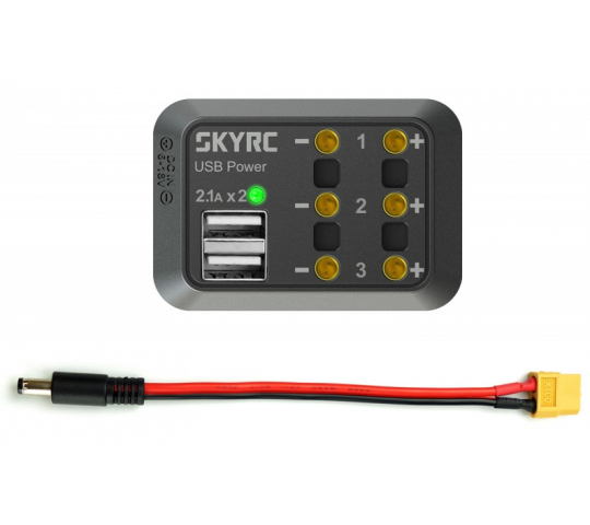 Power distributor DC 2,5 (Max 10A + USB 5V 2,1A) SkyRC - SKY600114-02