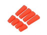 Protege Interrupteur bouton radio silicone ROUGE (8 pcs)  - 1121809-RED