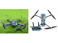 Stickers Flowers drone + radio Mavic DJI - MV-TZ33-FLOW