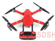 Stickers Waterproof Carbon Red Mavic DJI - MV-TZ401-CARR
