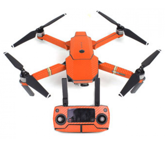 Stickers Waterproof Carbon Orange Mavic DJI - MV-TZ401-CARO