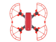 Protections d helices + rehausseurs atterrissage rouges Spark DJI - SP-KC302-R