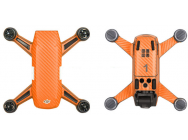 Stickers Spark DJI orange carbone - SP-TZ404-O