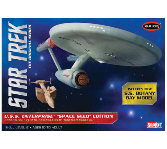 1:1000 Star Trek TOS U.S.S Enterprise Space Seed Edition (Snap Kit) Polar Lights - POL908