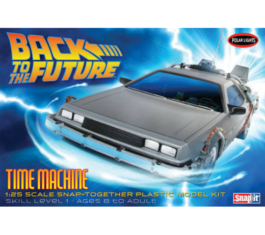 1:25 Back to the Future Time Machine (Snap Kit) - POL911