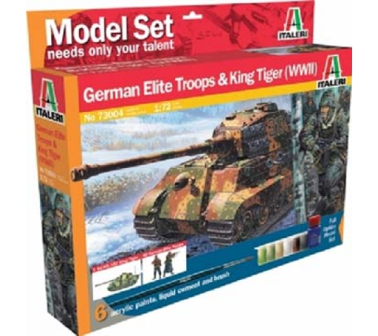 Kingtiger et fantassins Allds Italeri 1/72 - T2M-I73004