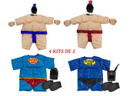 Pack de 4 kits SUMO (1 enfant / 1 ado / 1 adulte / 1 super heros enfant ) - PCKSUMO