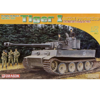 Tiger I Production initiale 42 Dragon 1/72 - T2M-D7370