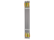 Pack de 10 fleches carbone - Diametre 7,5 - Spine 500 - Shoot Again - AJ868004