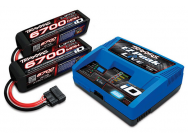 PACK CHARGEUR LIVE 2971G + 2 LIPO 4S 6700MAH 2890X PRISE TRAXXAS - TRX2993G