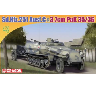 Sd.Kfz.251/1 Ausf.C Dragon 1/72 - T2M-D7352