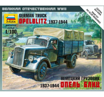Camion Allemand 3t Zvezda 1/100 - T2M-Z6126